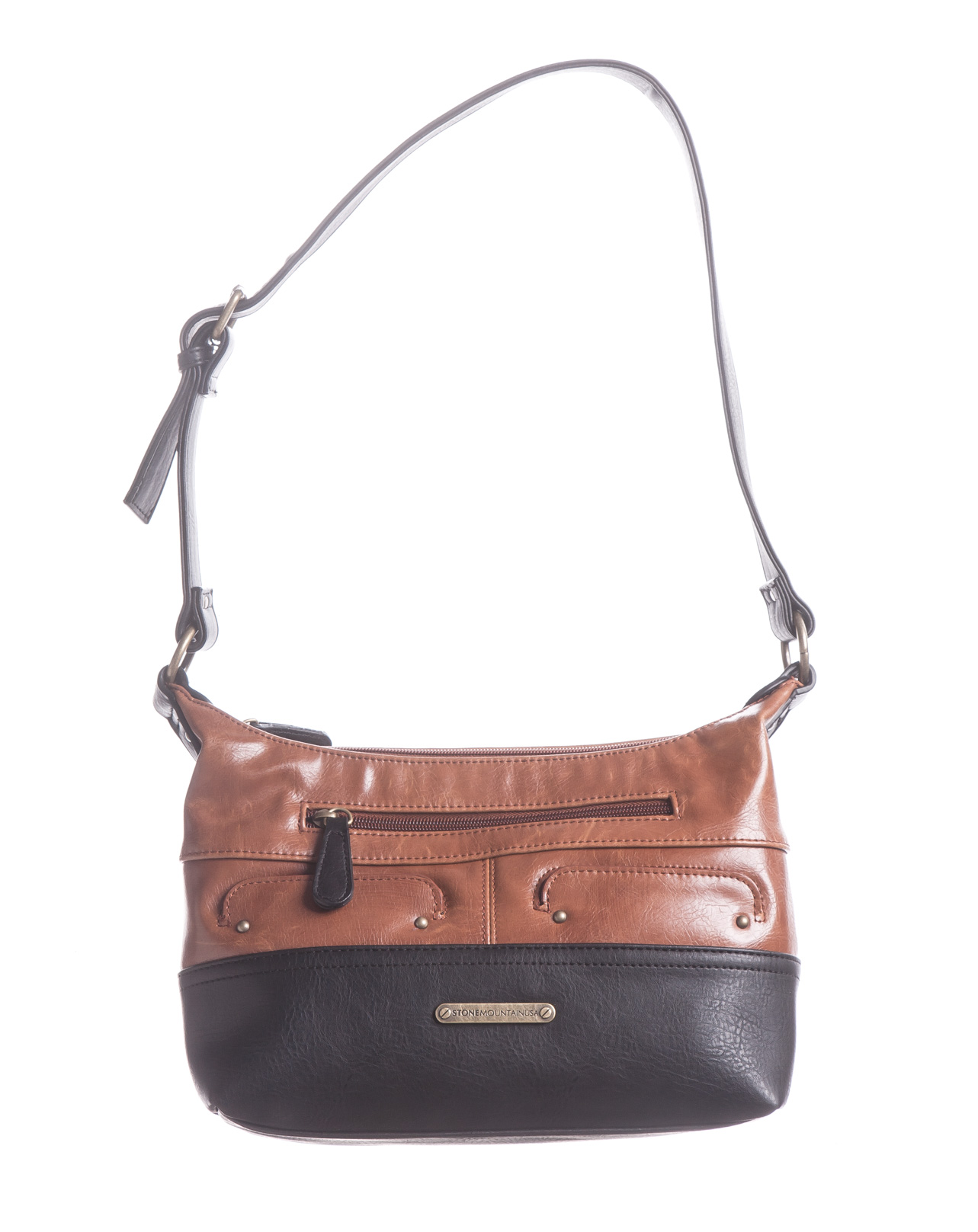 Vintage Leather Hobo Bag w/Phone Charger