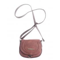 Nubuck Leather Sm Saddle Bag w/Phone Charger