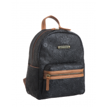 Plug In Embossed Crazy Paisley Dome Mini Backpack